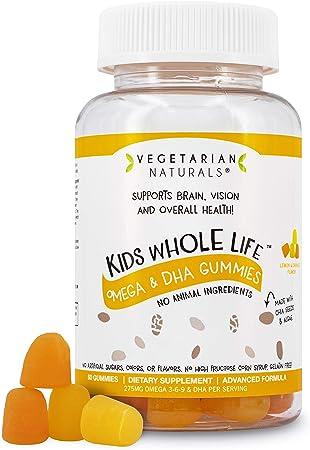 Vegetarian Naturals® Kids Whole Life™ Omega 3-6-9 DHA Vegan Friendly Vitamin Gummies Supplement, Gluten Free, 275mg Per Serving, 60 Count