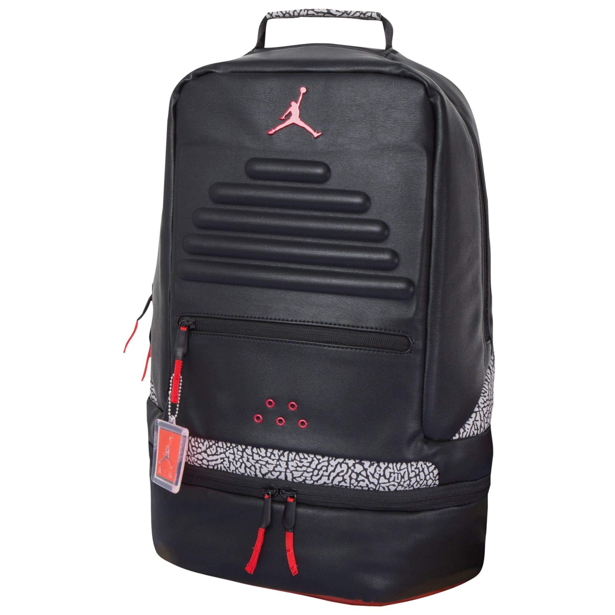 5b90634580 Galleon - Nike Air Jordan Retro 3 III Black Cement Grey Backpack Gray Red  88 9A0018 KR5