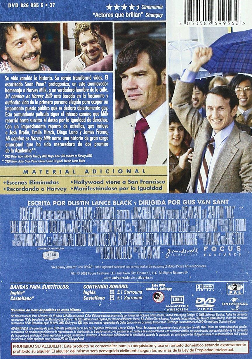 Mi Nombre Es Harvey Milk Import Movie European Format Zone 2 2009 Sean Penn Emile Hirsch James Fr Movies Tv