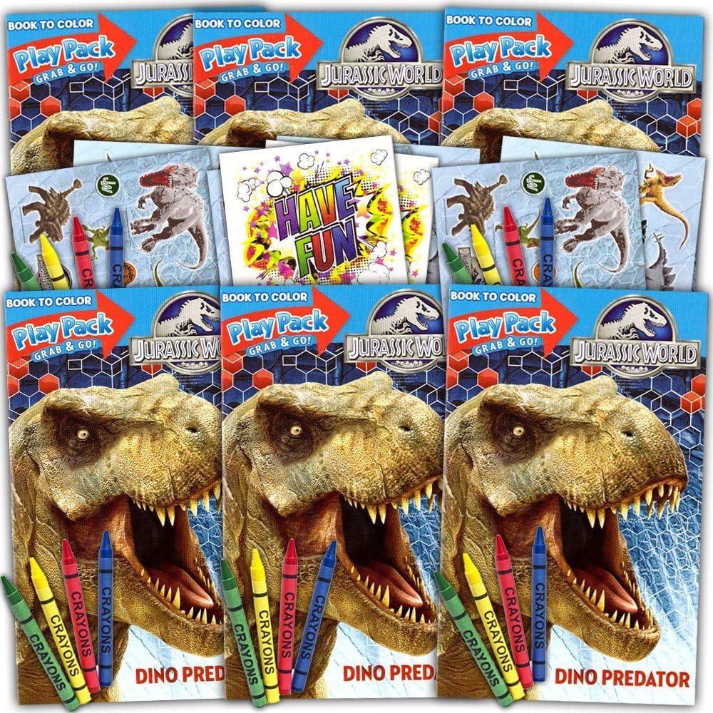 12 Dino Dinosaur Coloring Books Kid Boy Birthday Party Goody Bag Favor Supply