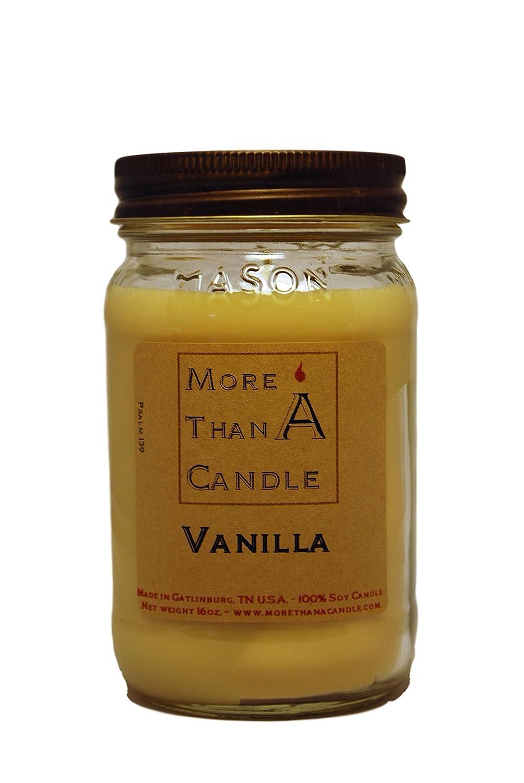 超大特価 More Than A Candle A VNA16M 16 oz Mason More oz Jar Soy Candle, Vanilla B079QPF4CQ, 作善堂:9f8d8879 --- egreensolutions.ca