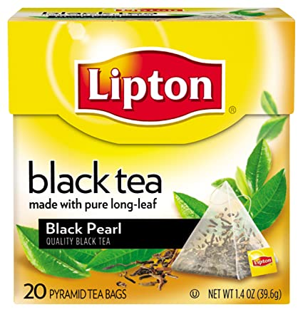 Lipton Black Tea Pyramids, Black Pearl 20 ct