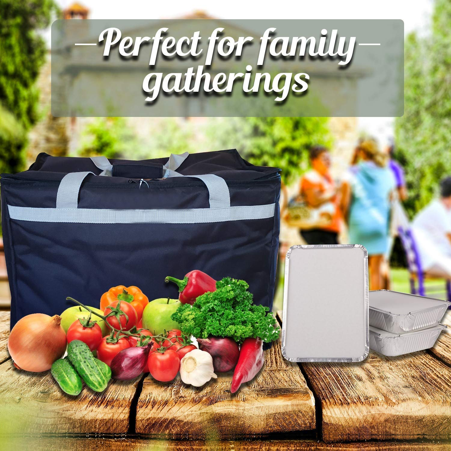 Candid- Insulated Food Delivery Bag (21''L x 14''W x 15''H), Hot/Cold Thermal Lightweight Grocery, Catering, Delivery or Party Bag. by CANDID (Image #5)