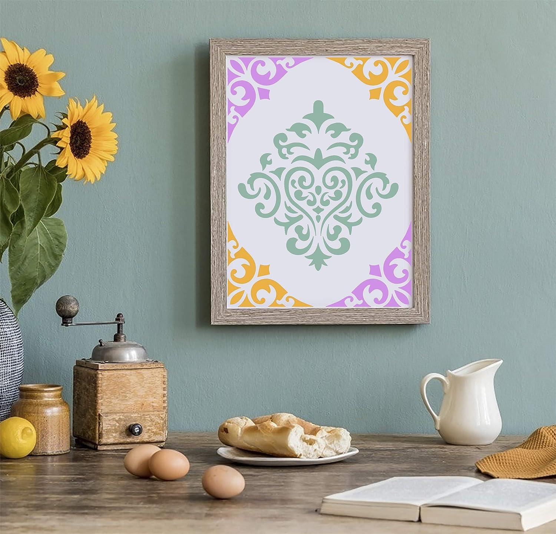 ISIYINER Stencil di Pittura Riutilizzabili Plastica Stampini Mandala per Decorazione Fai da Te Mobili Piastrelle Muri 15x15cm 10 Pezzi