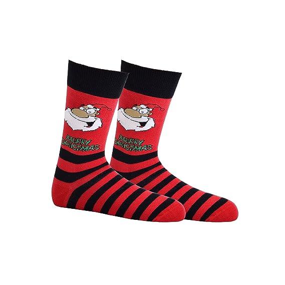 2 pares de calcetines de hombre de ordenador Navidad, CH de 194 rojo/negro Talla única: Amazon.es: Ropa y accesorios