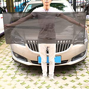 Car Windshield Sun Shade,Retractable Curtain Window Sunshade for Baby Kid and Pet,Most Sedans SUV Sun UV Rays Protection