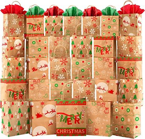 Festive and colourful re-useable Christmas gift bag BRAND NEW suit all ages