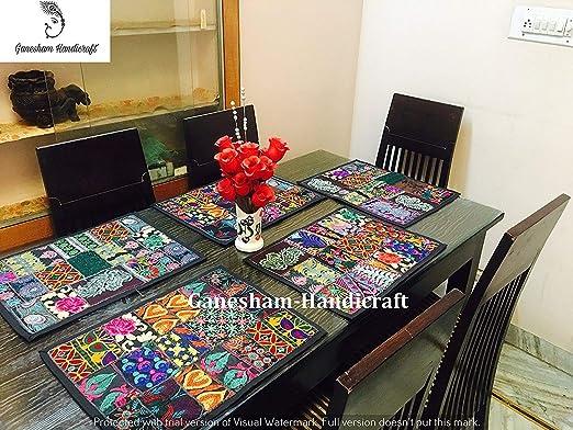 Desktop Pad Furniture Pad Indian Style Cotton Woven Floor Mat