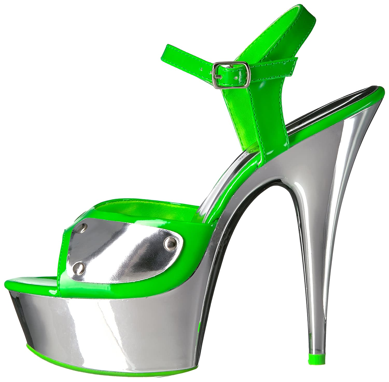 Pleaser B00XLDP260 Women's Del609nc/Ngn/Sch Platform Sandal B00XLDP260 Pleaser 6 B(M) US|Neon Green/Slv Chrome ef02ba