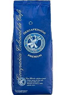 Cafe Descafeinado en Grano 1kg Natural 100% - Café Espresso con un sabor Intenso de