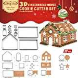 3D Christmas Handmade Candy House Gingerbread House Cookie Mold combinazione Biscuit Mold, Yicol DIY Handmade casa di marzapane.