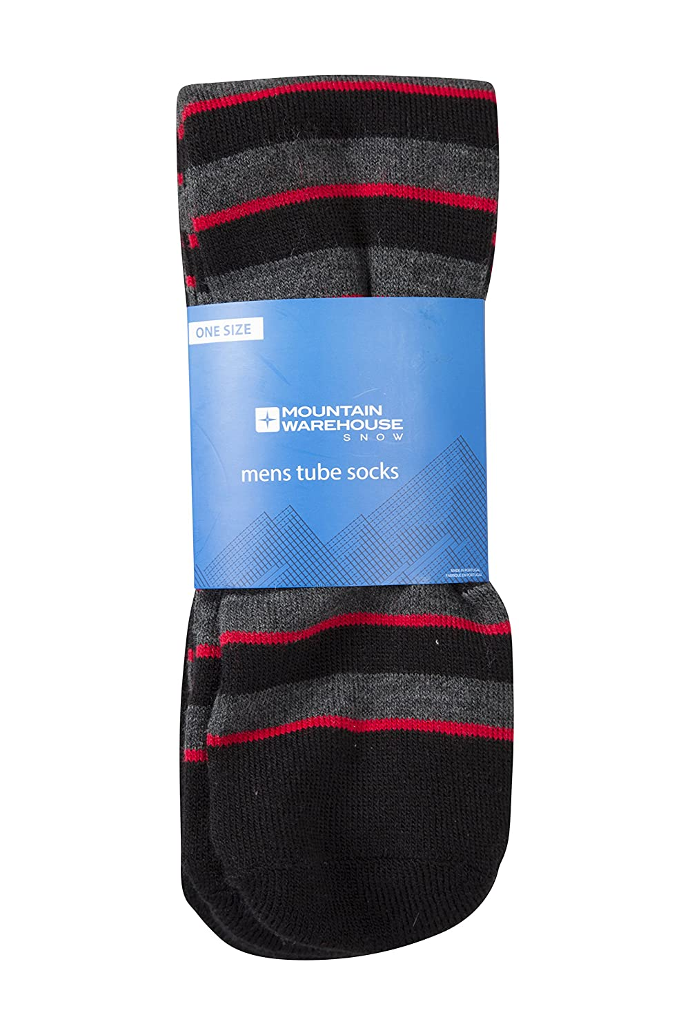 Mountain Warehouse Patterned Ski Tubes - 2 Pack - Lightweight, Extra Warm with Fine Toe Seams for Comfort & Easy Care - One Size Fits All - a Must Have Item for the Winter Orange 024768036001