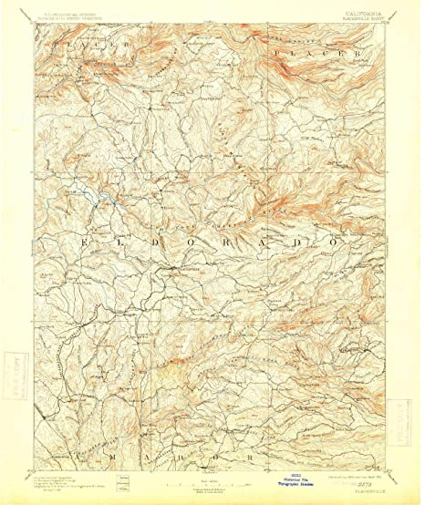 Placerville California Map.Amazon Com Yellowmaps Placerville Ca Topo Map 1 125000 Scale 30