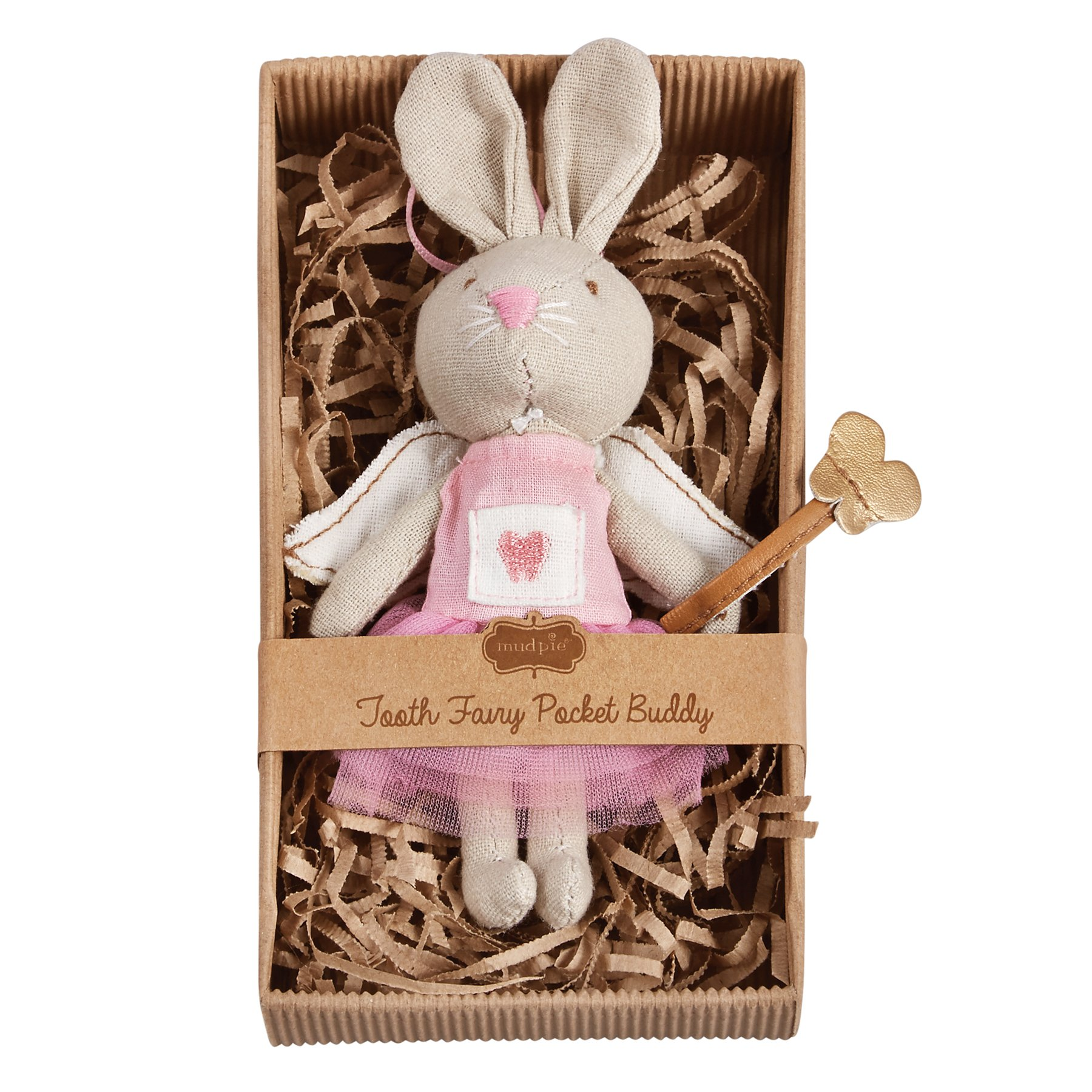 Mud Pie Little Girl Mini Tooth Fairy Bunny