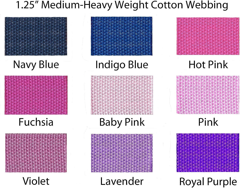 Dark Brown I Craft for Less 1 Yard Cotton Webbing 1 1//4 Medium Heavy Weight