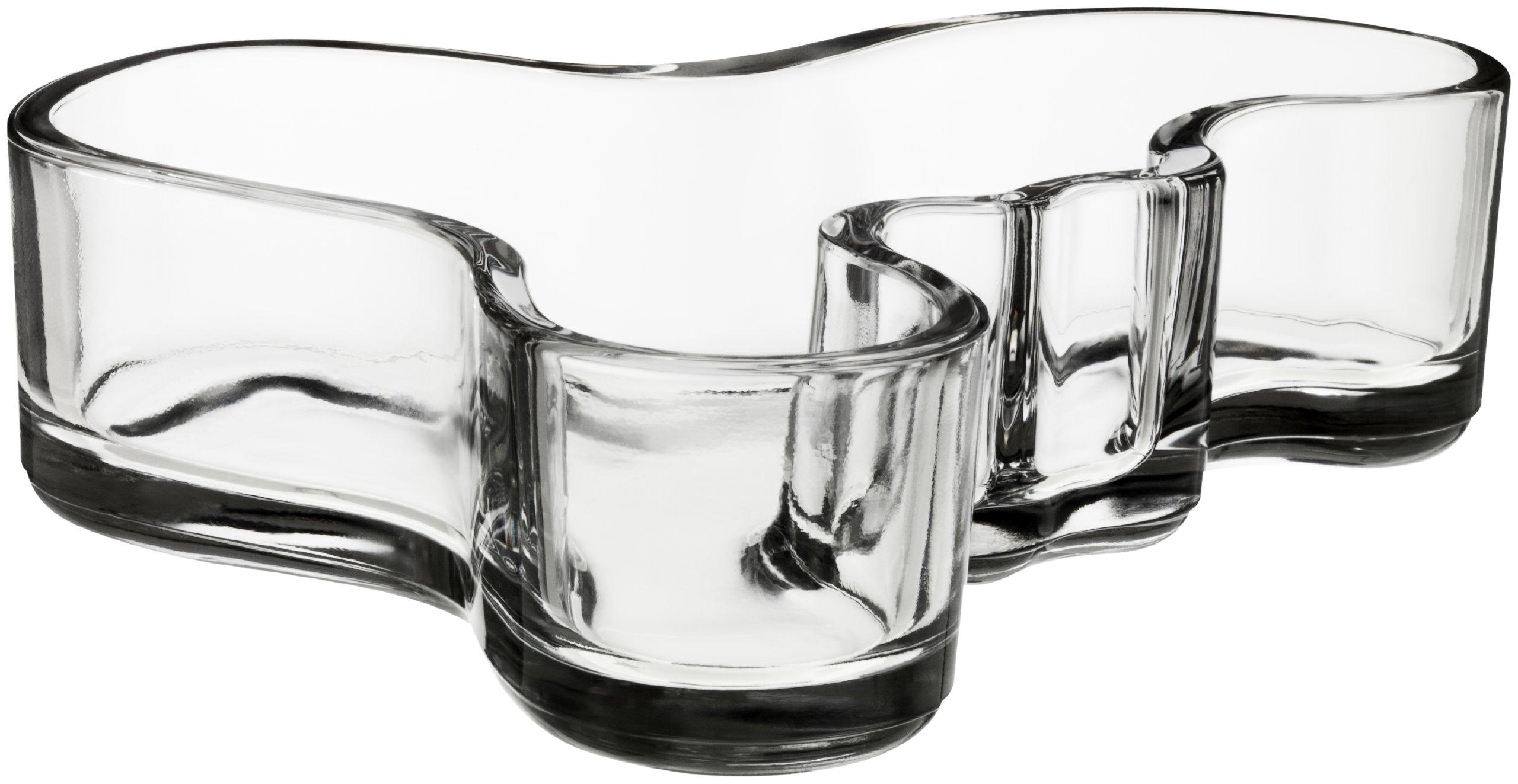 Iittala Alvar Aalto Bowl, Clear, 7-1/2 by 2-Inch