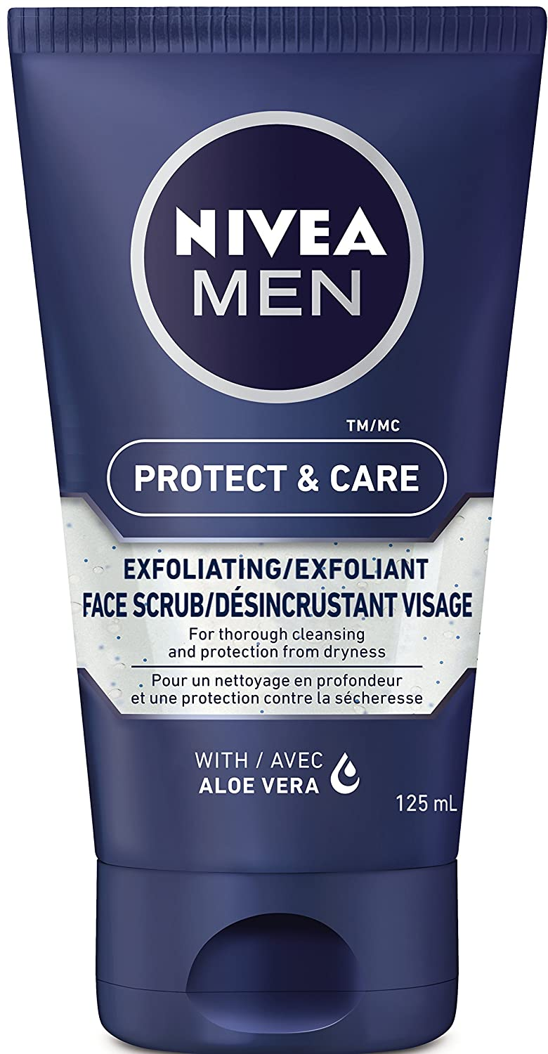 NIVEA MEN Protect & Care Exfoliating Face Scrub, 125 mL 56594813595
