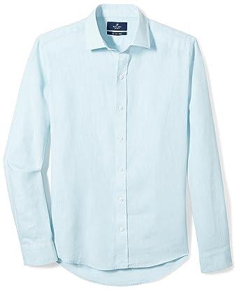 c2db61f25a5 Amazon.com  Amazon Brand - BUTTONED DOWN Men s Slim Fit Casual Linen ...