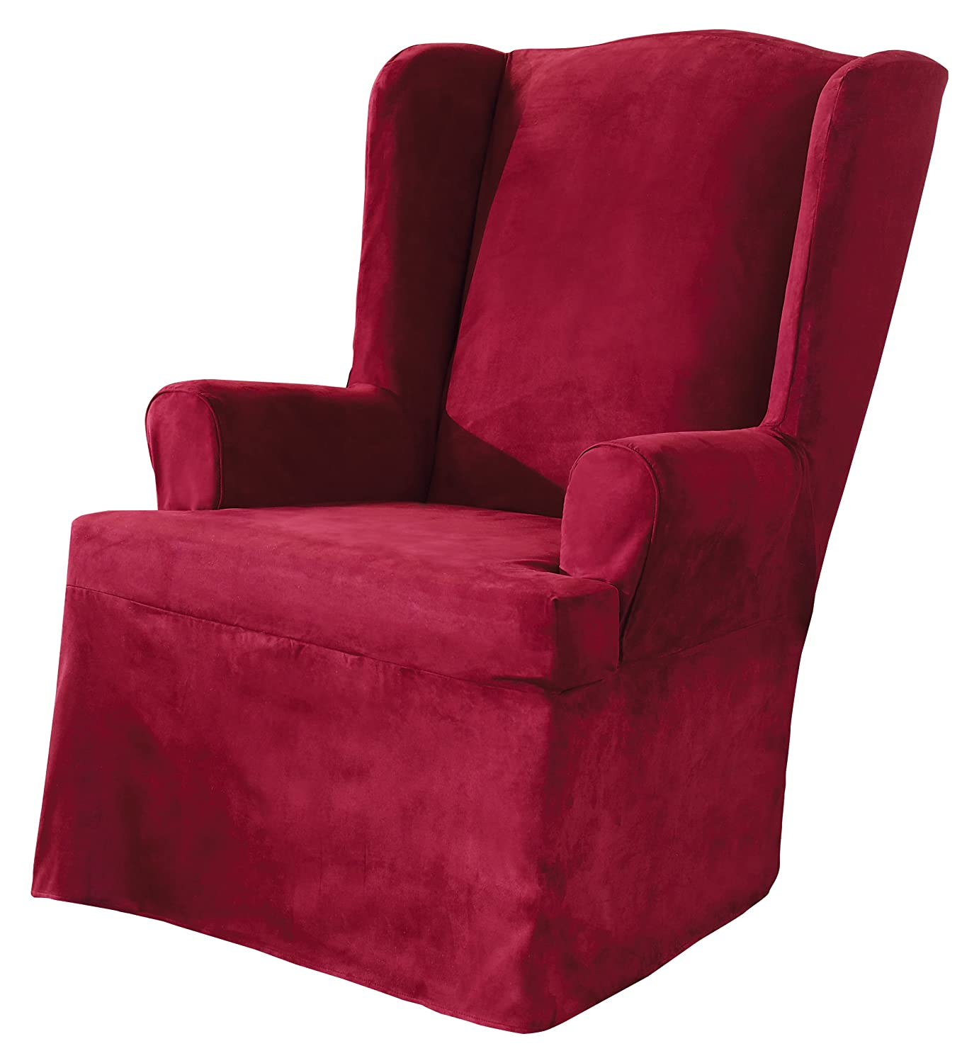 Attrayant Amazon.com: Sure Fit Soft Suede   Wing Chair Slipcover   Burgundy  (SF34520): Home U0026 Kitchen