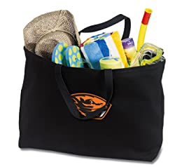 Broad Bay Jumbo OSU Beavers Tote Bag or Large Canvas Oregon State Shopping Bag