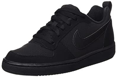 NIKE Youths Court Borough Low Black Nubuck Trainers 35.5 EU