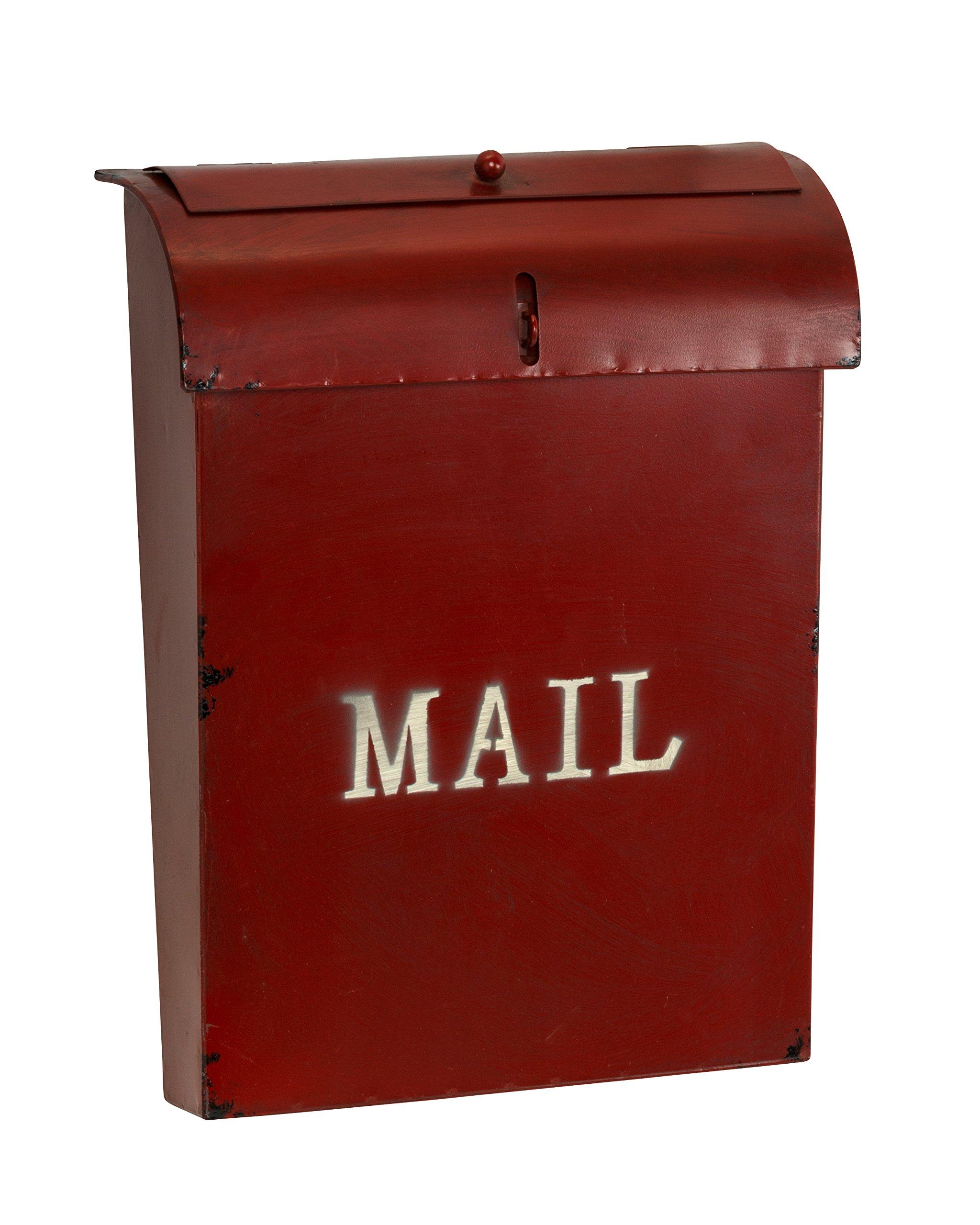 AdirHome Steel Rustic Red Velvet ''Bird Feeder'' Mailbox