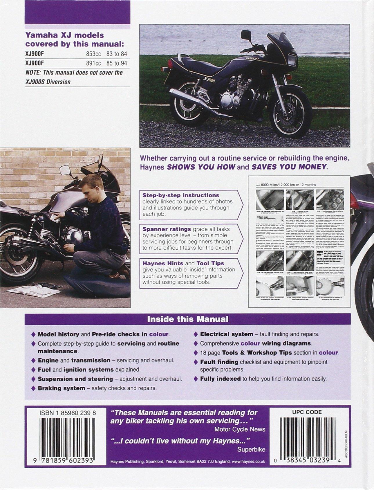 Yamaha Xj900f Fours Service And Repair Manual Haynes Reading Wiring Diagram Manuals Matthew Coombs 9781859602393 Books