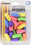 Officemate OIC Achieva Pencil Eraser Caps, 24 in a pack, Assorted Colors (30552)