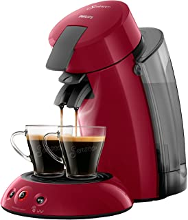 Philips Senseo Original XL HD6555/82 Cafetera Monodosis con Tecnología Coffee Boost, Rojo,