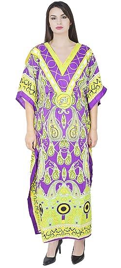 SKAVIJ Maxi Length Caftan Caftans pour Femmes Dashiki Caftan Chemise de  Nuit Grande Taille  Amazon 0fc6be87c5d3