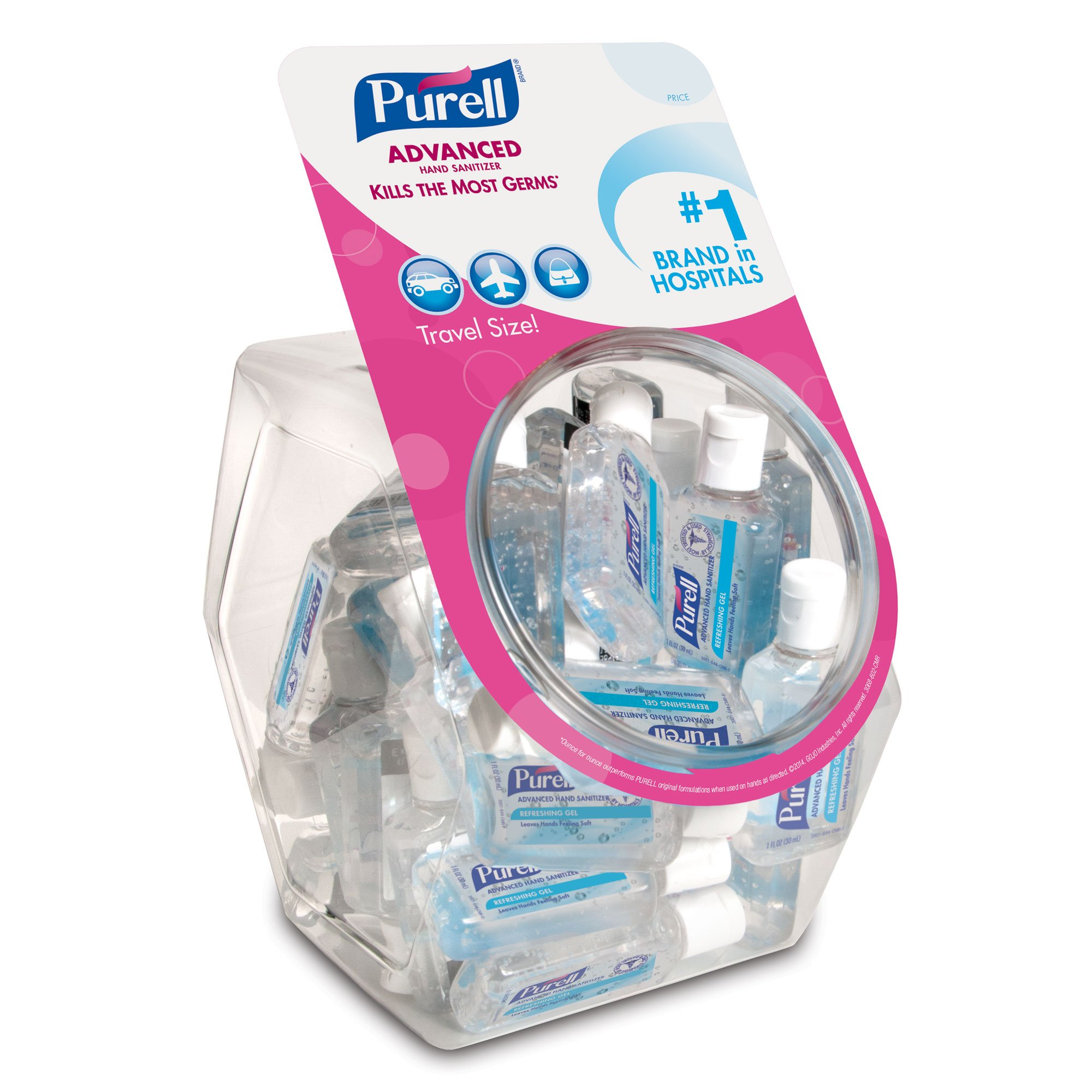 PURELL 3901-36-BWL Advanced Bottle Display Bowl, 36 Count