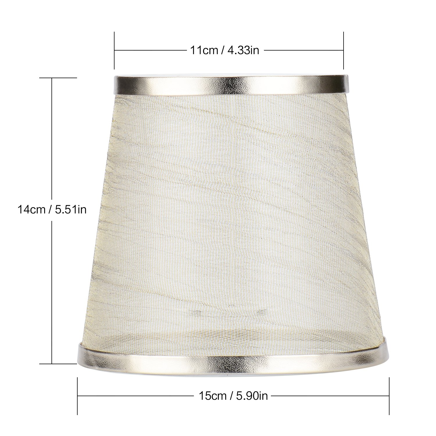 Cleeacc Creative Transparent Lamp Shades for Table Lamps Small Clip on (4x6x5.5in) Chandelier Handmade Modern E14 Screw Lampshade Classic Simple Style Crystal Candle Glass Lamp Shade Cloth Design 1 by Cleeacc (Image #3)