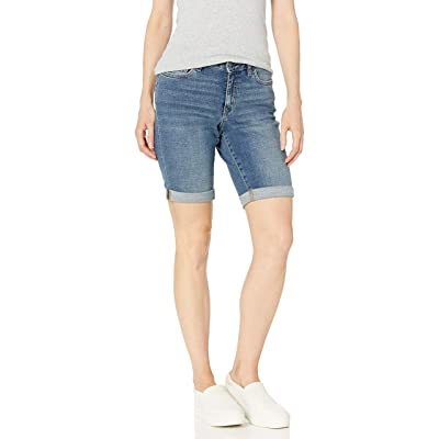"Essentials Women's 10"" Denim Bermuda Short: Clothing"