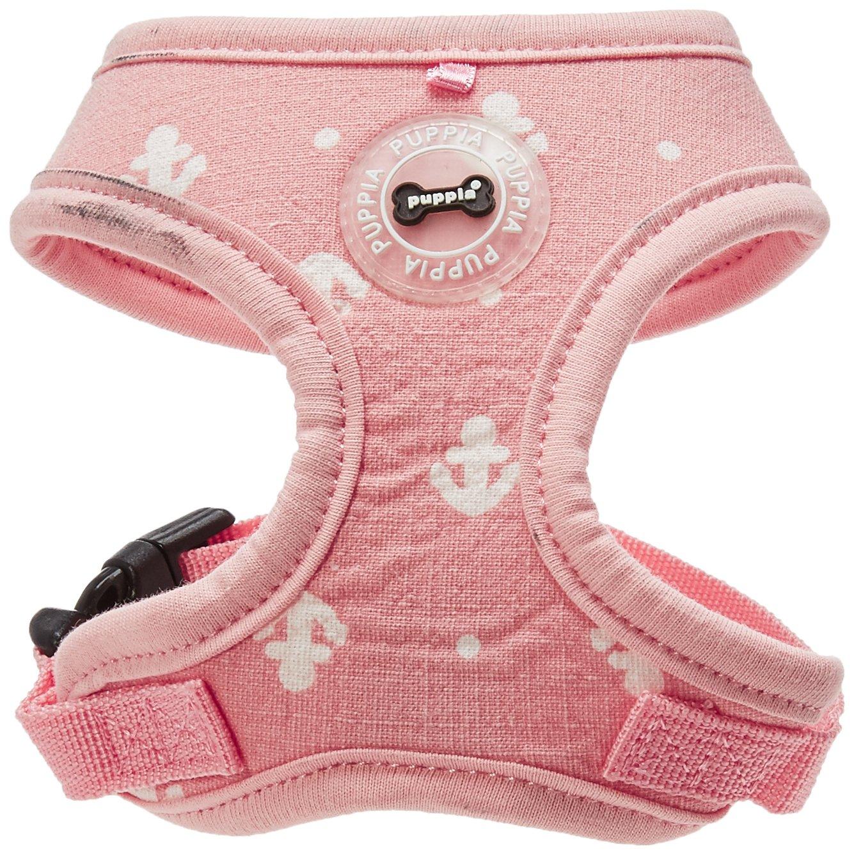 Pink X-Small Pink X-Small Puppia PARA-HA1531-PK-XS Pink Ernest Harness A Pet-Vest-Harnesses, X-Small