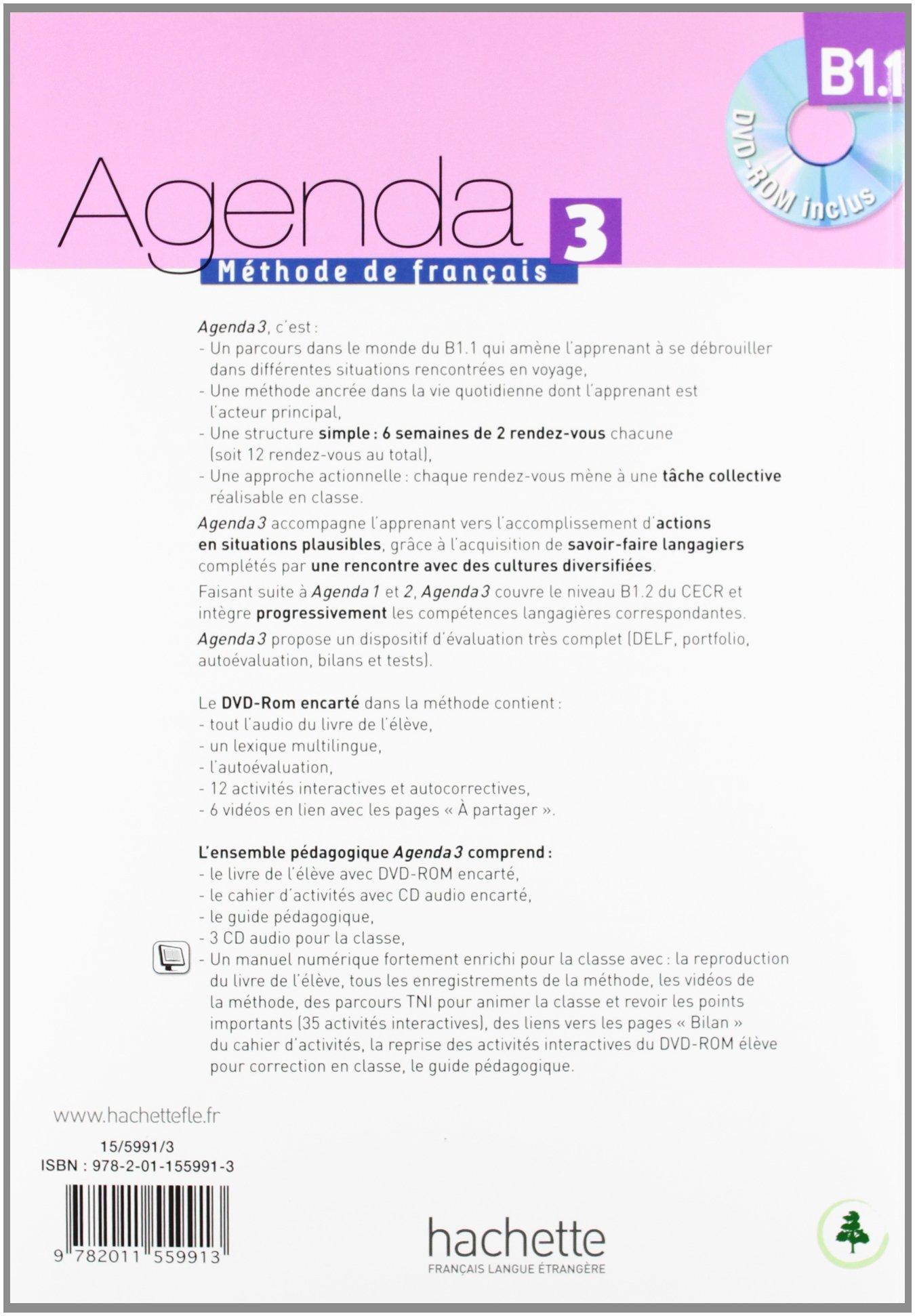 Agenda 3. Méthode De Français. Niveau B1. 1: Amazon.es ...