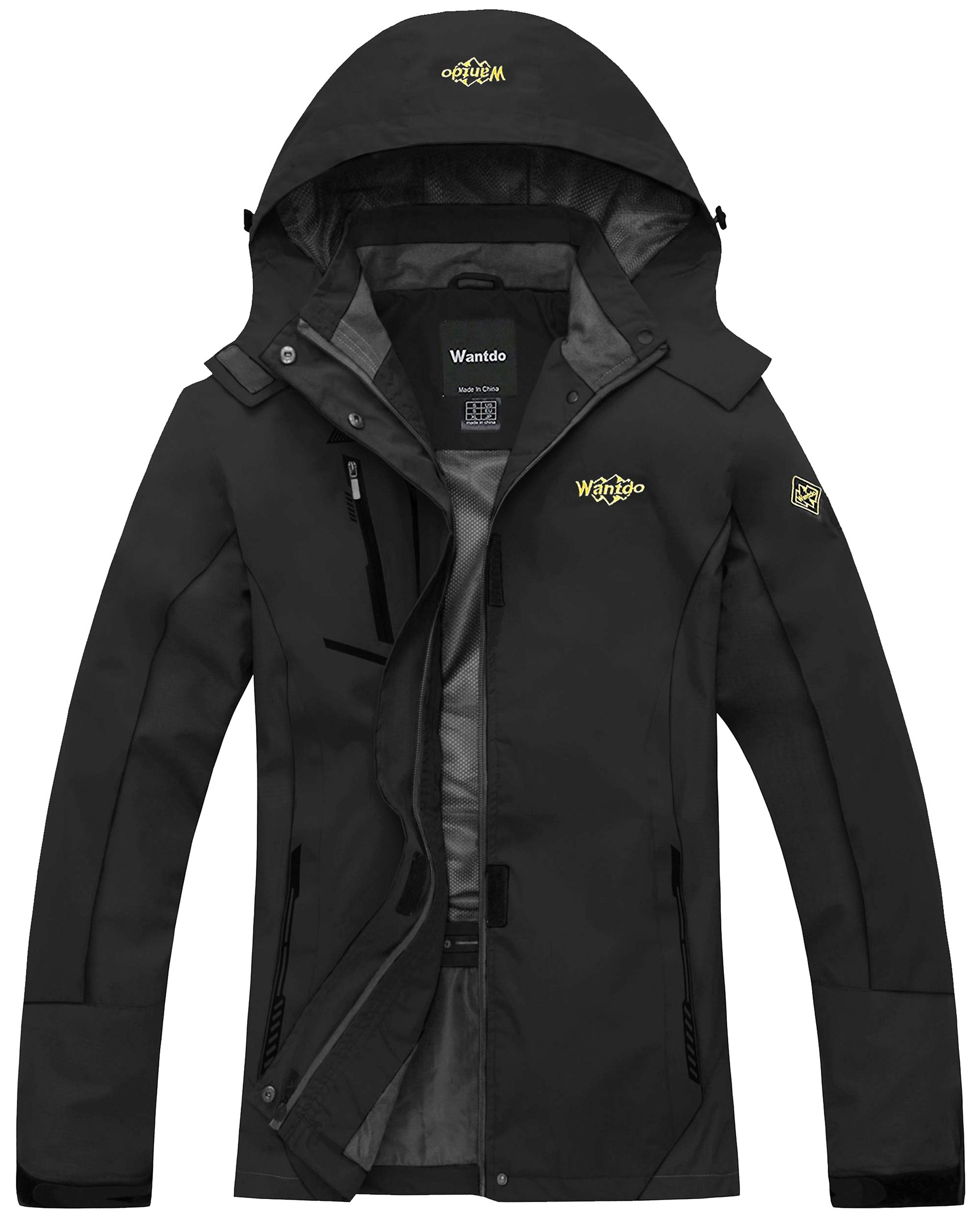 Wantdo Women's Windproof Breathable Jacket Athletes & Outdoor Sportswear,Medium,Black