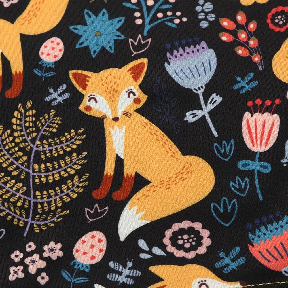 TWISFER M/ädchen Kleider Cartoon Fox Print Sun Kleid Kleidung Outfits Langarm Herbst Winter T-Shirt Kleid Baby Kinder Kleinkind M/ädchen Prinzessin Kleid M/ädchen Anzug Mini Kleid