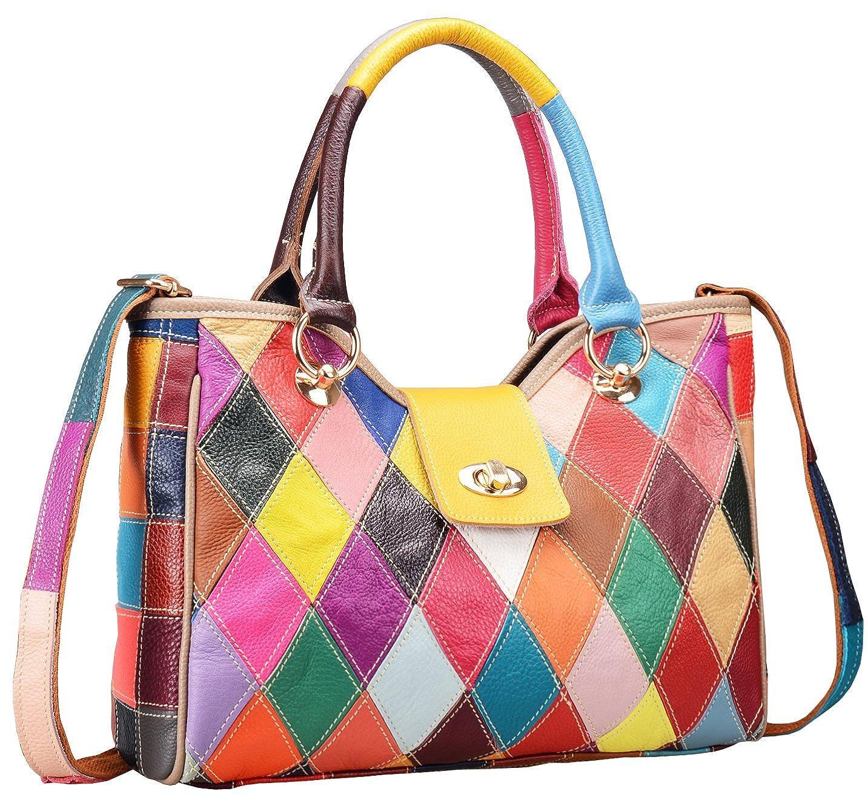 484c088f0bad Amazon.com  On Clearance Heshe Womens Multi-color Shoulder Bag Hobo Tote  Handbag Cross Body Purse (Colorful-2B4008)  Shoes