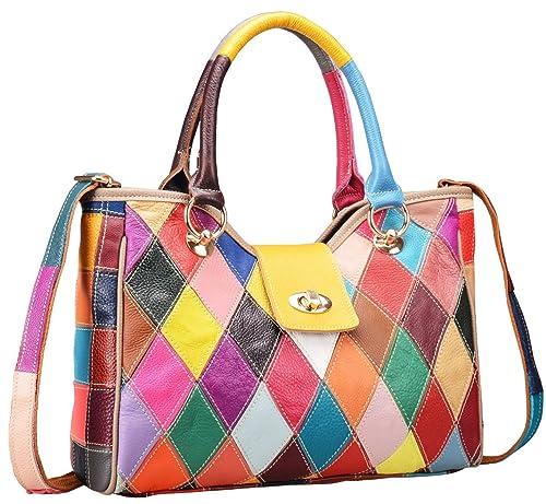 Amazon.com: Bolso Heshe multicolor, bolso de mano, cartera ...