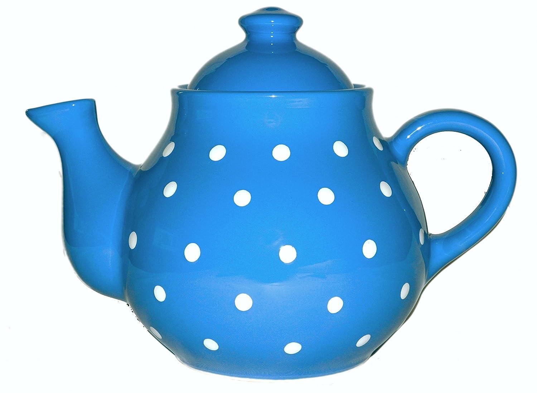 UNGARNIKAT Keramik Teekanne Blau mit handbemalten Weißen Punkten 1,7 1,7 1,7 L B01MTU5QBQ Teekannen a6e66e