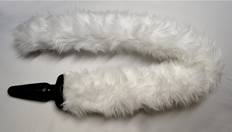 dedd0a24c1c Amazon.com  JENNY LANDIS Kelly 4 foot long Cat Tail Butt Anal Plug WHITE  1.5 inch plug  Health   Personal Care
