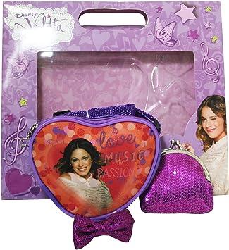 Disney Violetta Bolso Bandolera Monedero Estuche de Regalo: Amazon.es: Equipaje