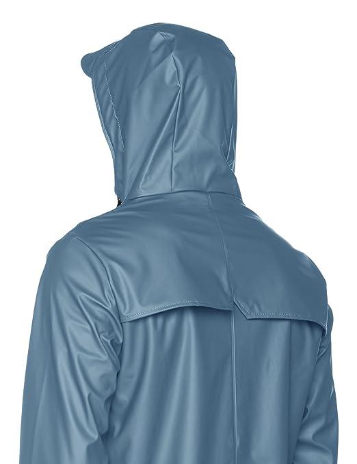 Scalpers Rain, Abrigo Impermeable para Hombre, Azul (Blue), Large(Tamaño del Fabricante:L): Amazon.es: Ropa y accesorios