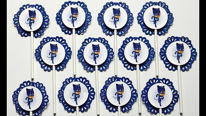 12 CATBOY PJ MASK Cupcake Topper - Party Picks - Disney