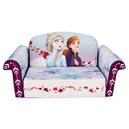Amazing Marshmallow Furniture Childrens 2 In 1 Flip Open Foam Sofa Frozen 2 By Spin Master Machost Co Dining Chair Design Ideas Machostcouk