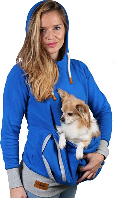 Amazon Com Pet Pouch Hoodie Small Pet Carrier Dog Cat Pouch Hoodie Sweatshirt Kangaroo Pocket Holder No Ears Women S Fit Clothing