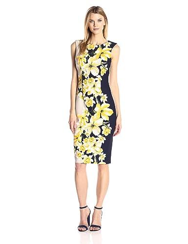 Julian Taylor Women's Floral Color Blocked Dress