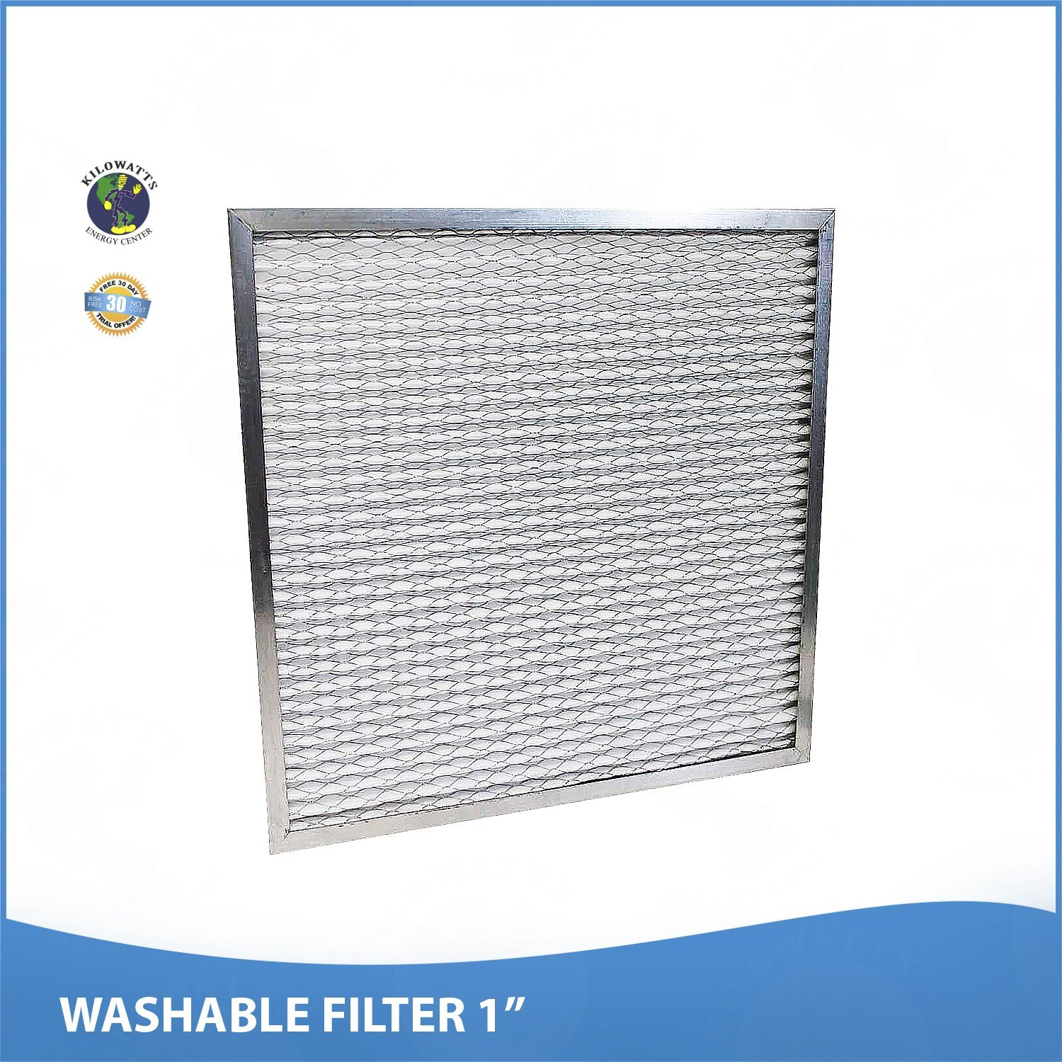 16-3/8 x 21-1/2 x 1 Washable Permanent A/C Furnace Air Filter