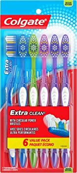 6-Count Colgate Extra Clean Medium Toothbrush