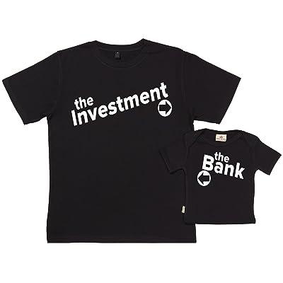 Spoilt Rotten SR - Dans Une Boîte Cadeau - The Investment & The Bank - Dans Notre Boîte-Cadeau - Cadeau pour Un Père Et Bébé - Père t-Shirt Et t-Shirt Bébé Ensemble